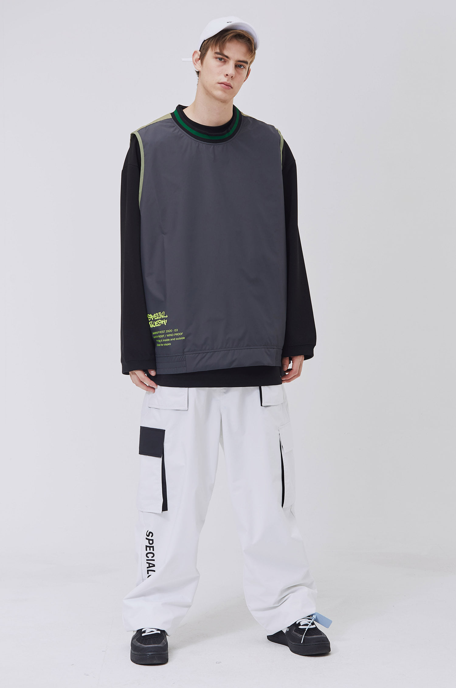 SET S23 WARM UP VEST / BOTTOM
