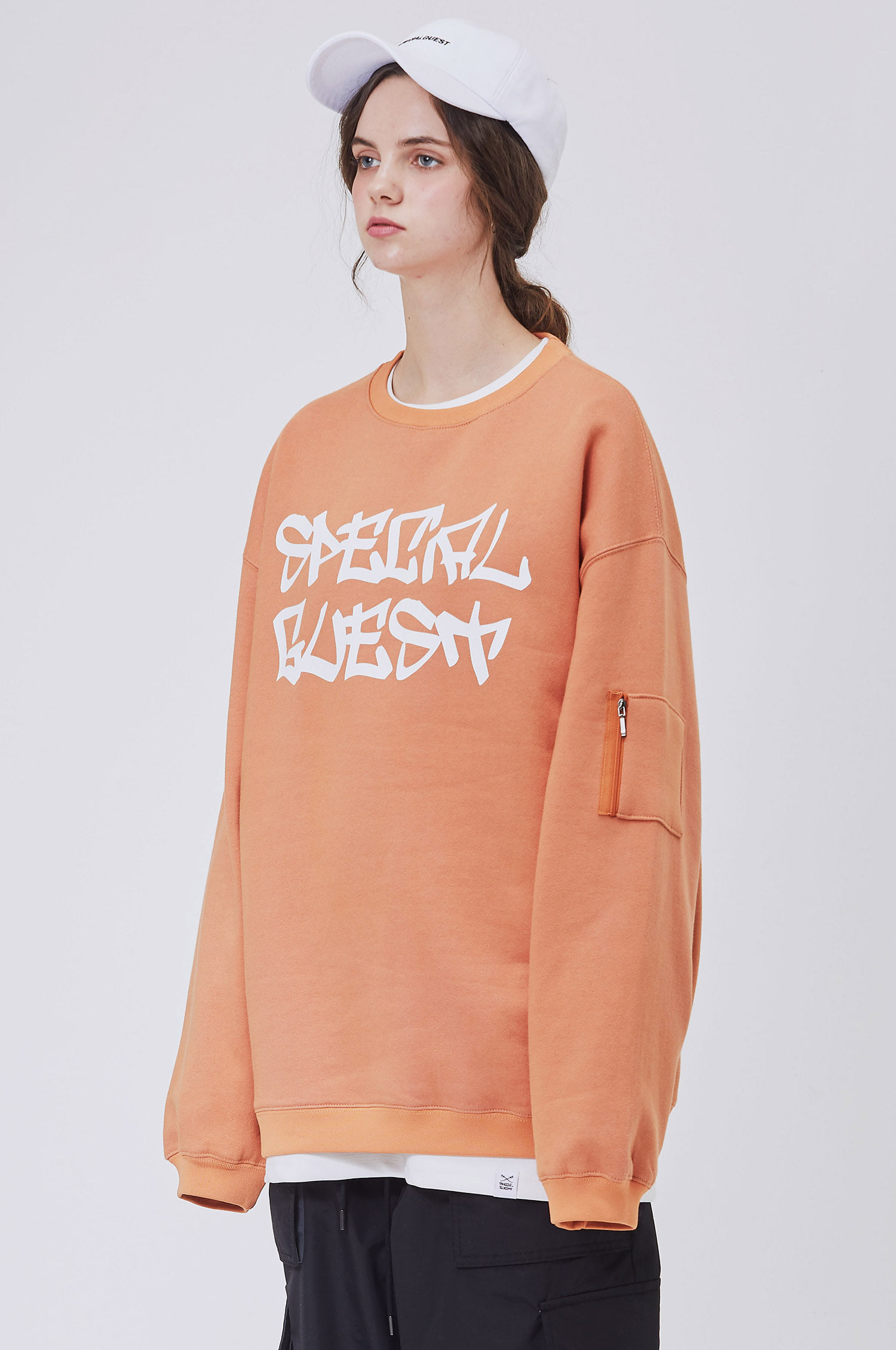 SWEATSHIRTS - ORANGE