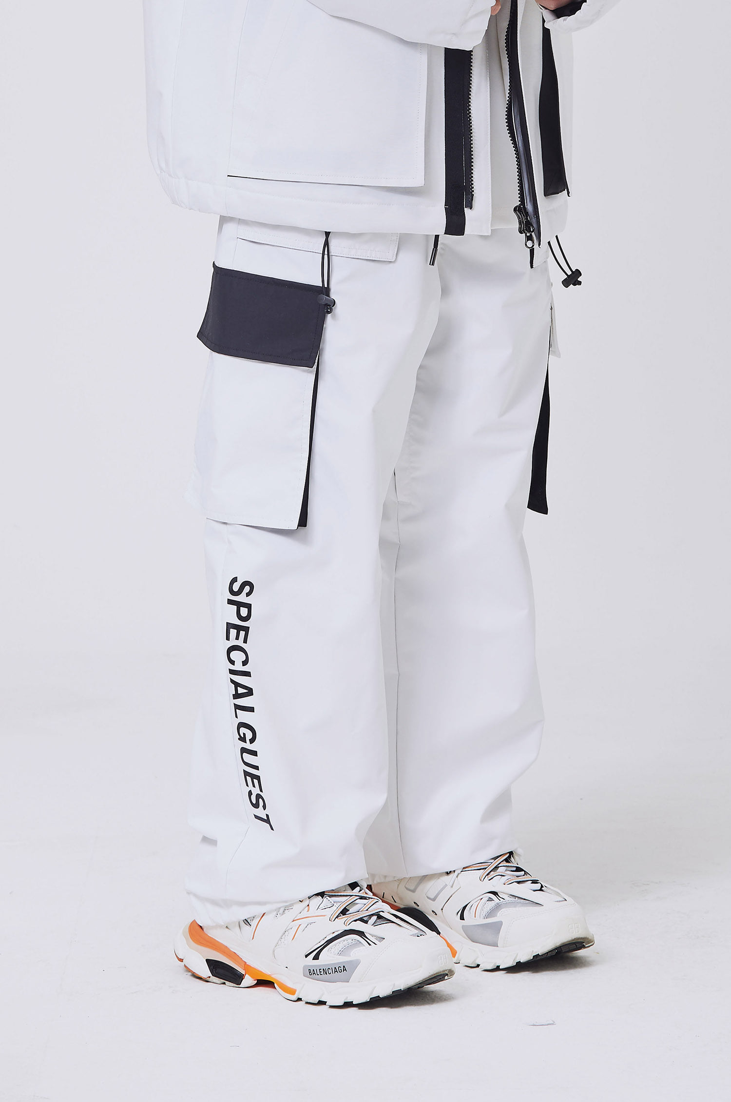 WIDE BAND PANTS WHITE