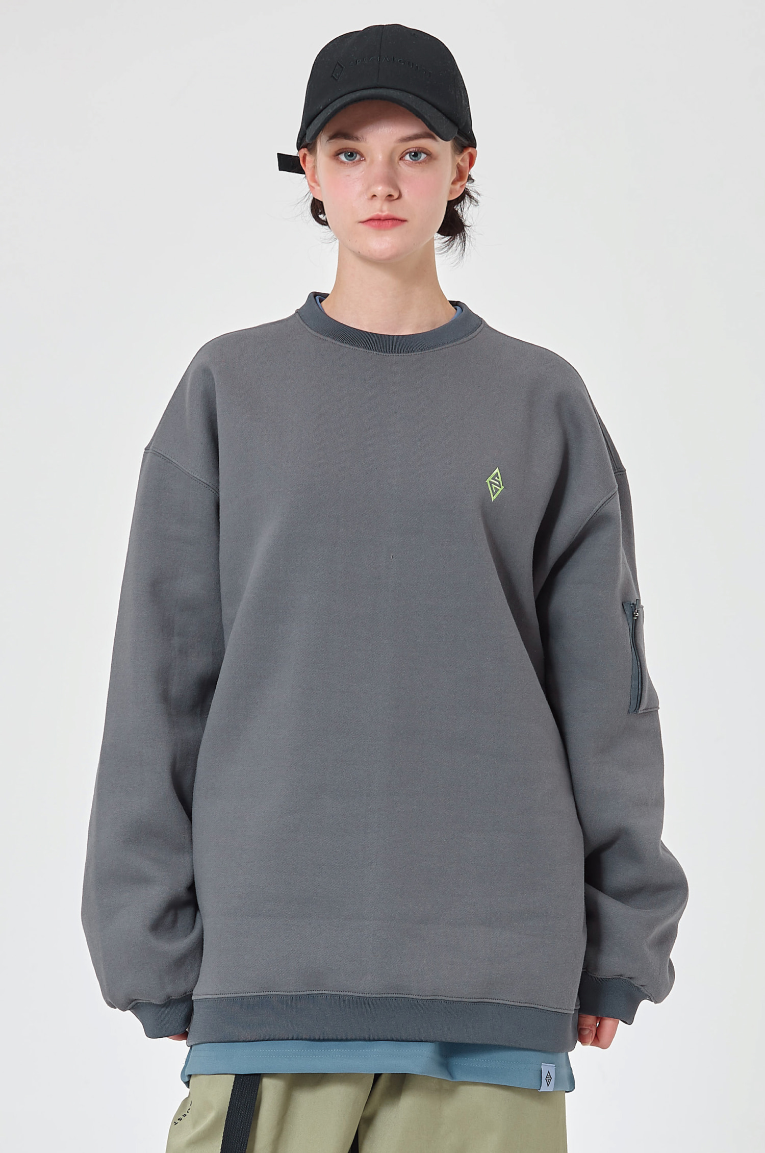 SWEATSHIRT NL DRAKGRAY