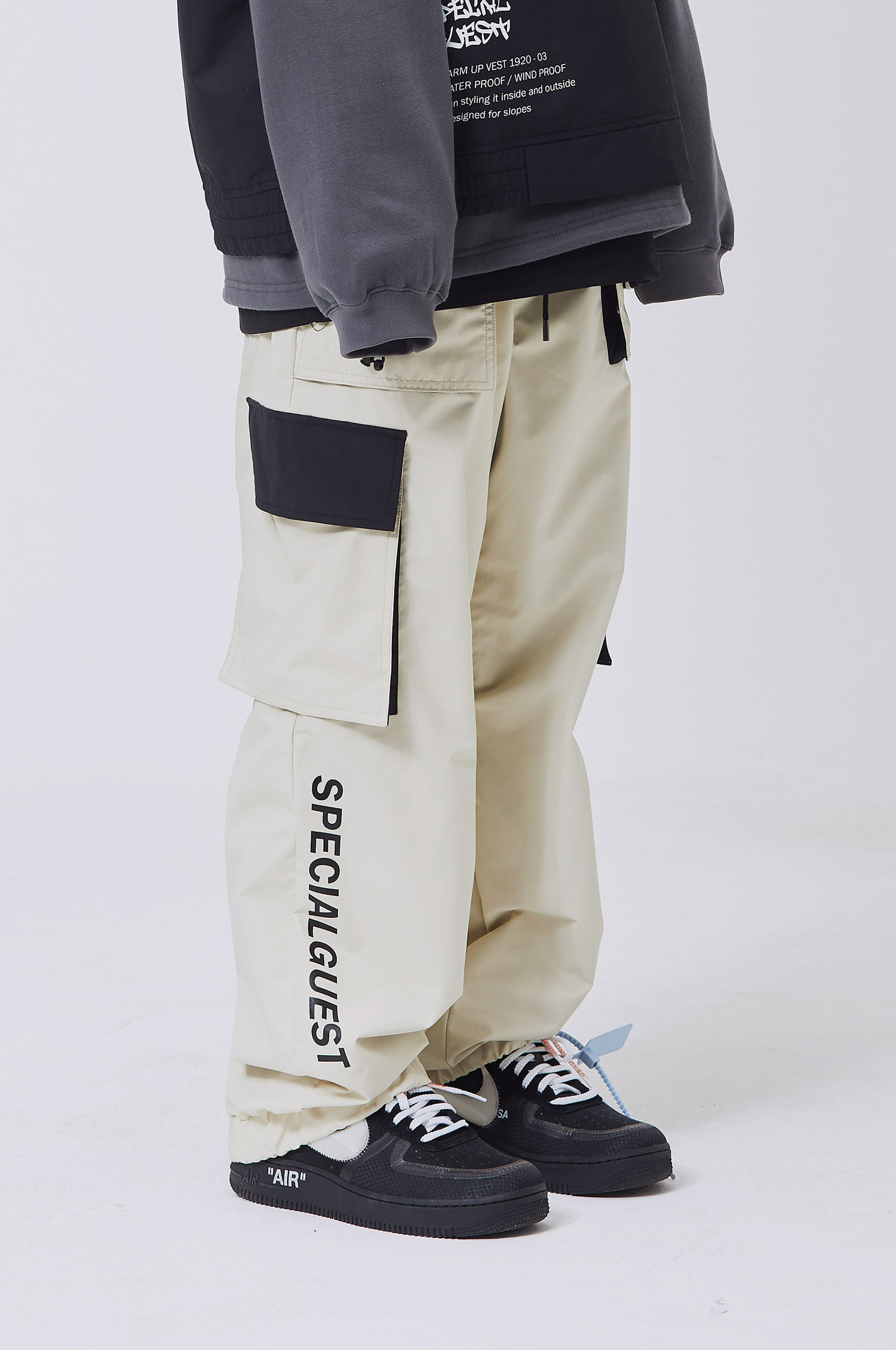 WIDE BAND PANTS BEIGE